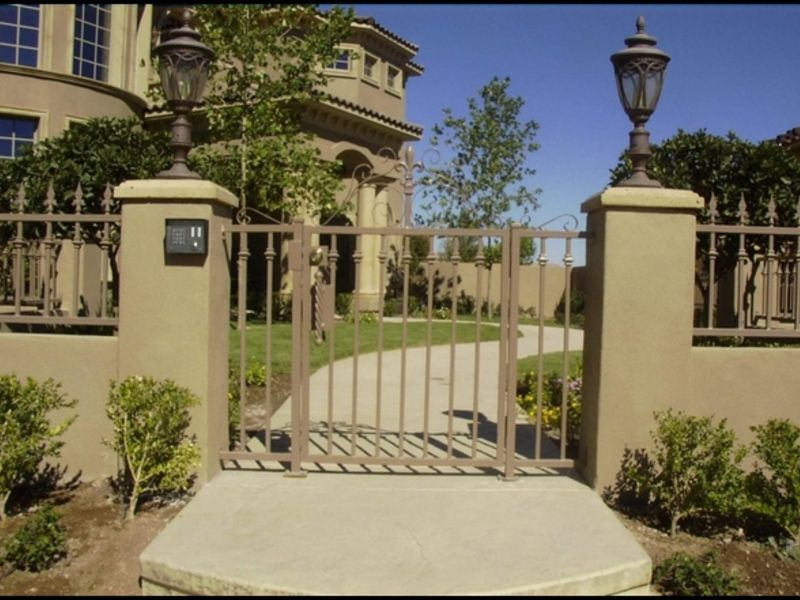 Econo-Line Courtyard & Entryway Gates CE0087 Wrought Iron Design In Las Vegas