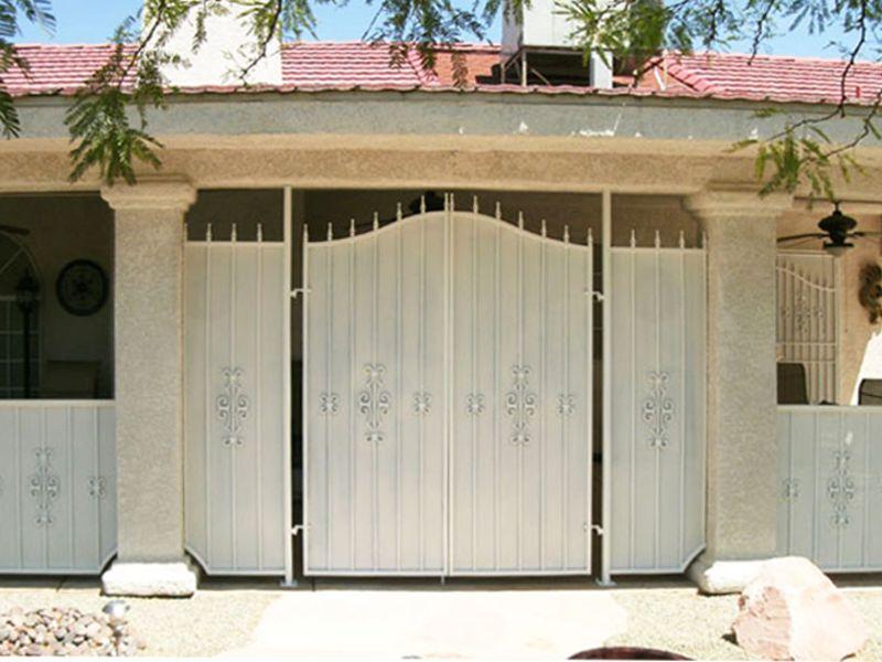 Econo-Line Courtyard & Entryway Gates CE0208 Wrought Iron Design In Las Vegas