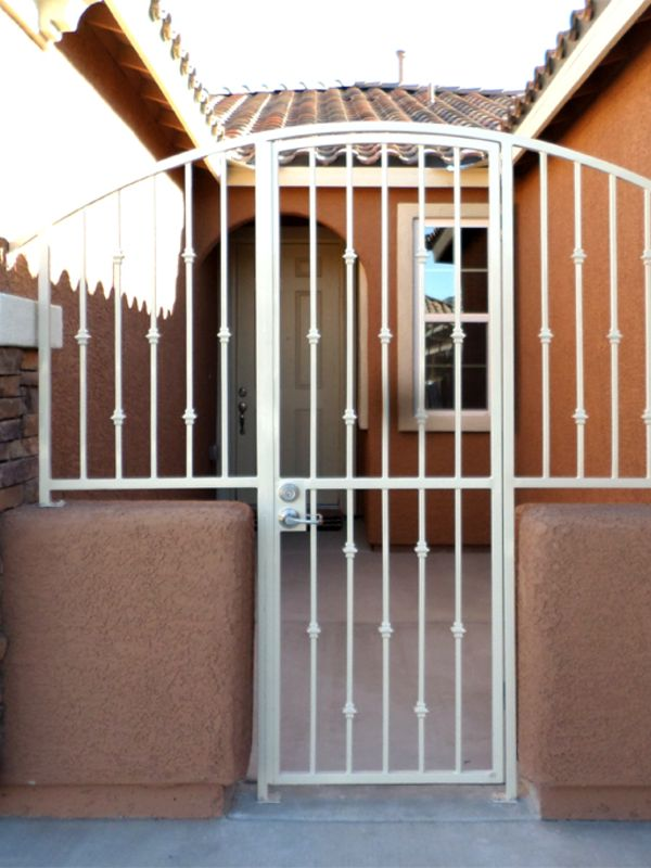 Econo-Line Courtyard & Entryway Gates CE0248 Wrought Iron Design In Las Vegas