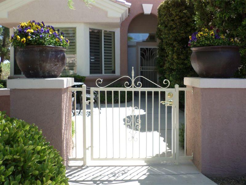 Econo-Line Courtyard & Entryway Gates CE0276 Wrought Iron Design In Las Vegas