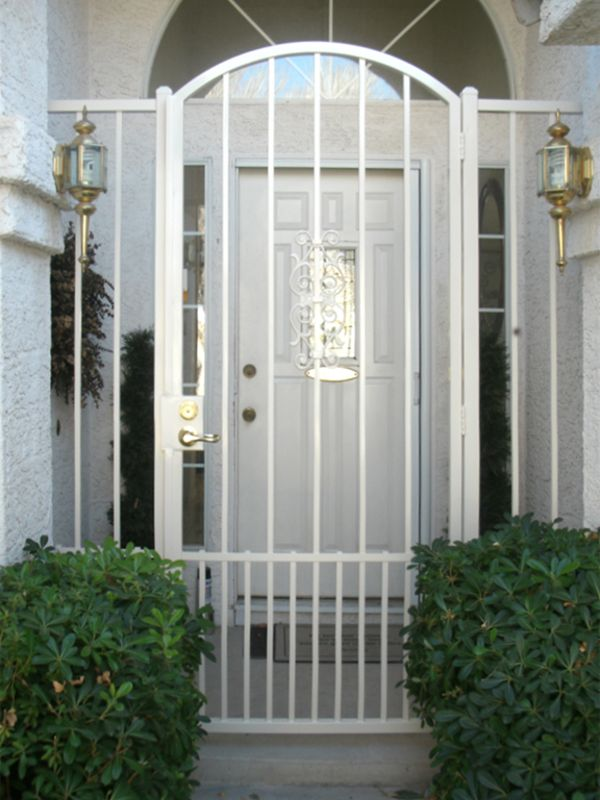 Econo-Line Courtyard & Entryway Gates CE0307 Wrought Iron Design In Las Vegas