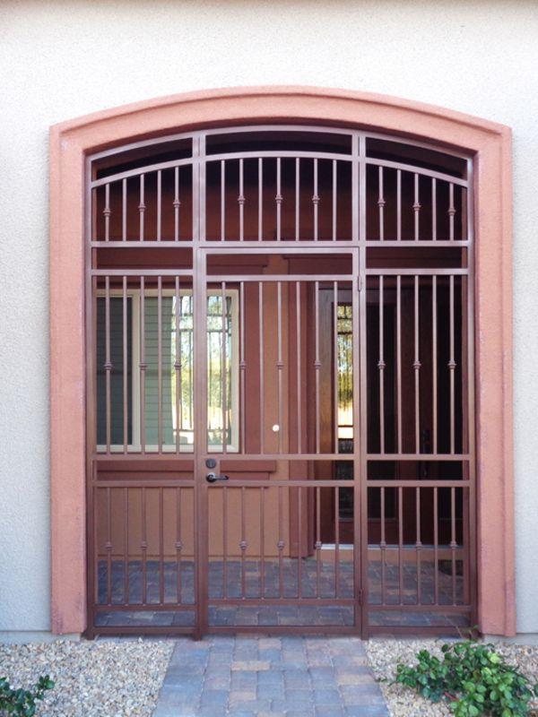 Econo-Line Courtyard & Entryway Gates CE0386 Wrought Iron Design In Las Vegas