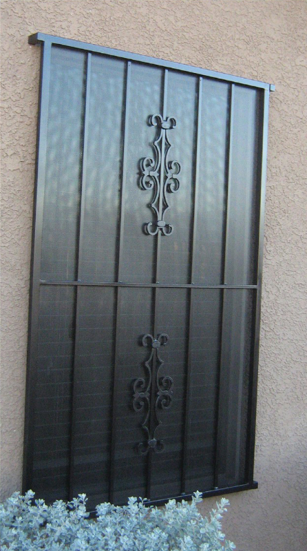 Econo-line Double Security Door - Item WG0001 Wrought Iron Design In Las Vegas