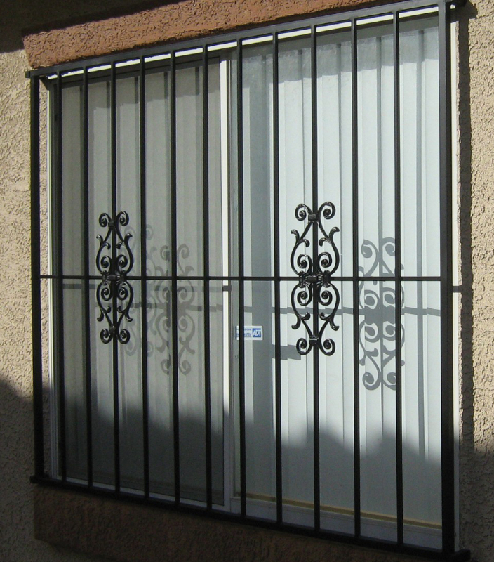 Econo-line Double Security Door - Item WG0003 Wrought Iron Design In Las Vegas