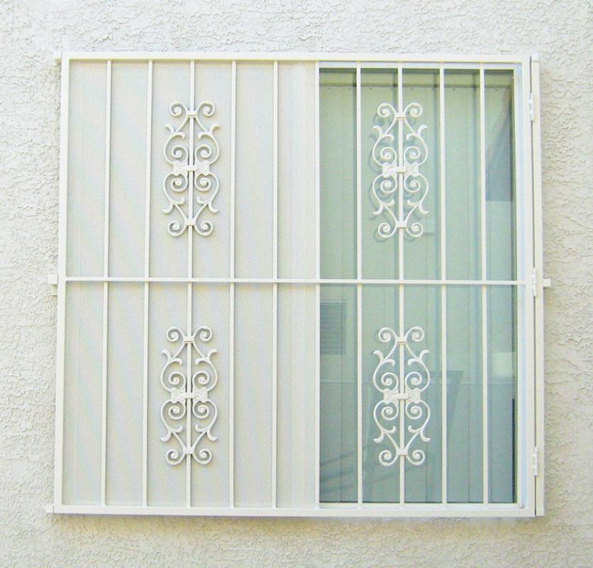 Econo-line Double Security Door - Item WG0029 Wrought Iron Design In Las Vegas