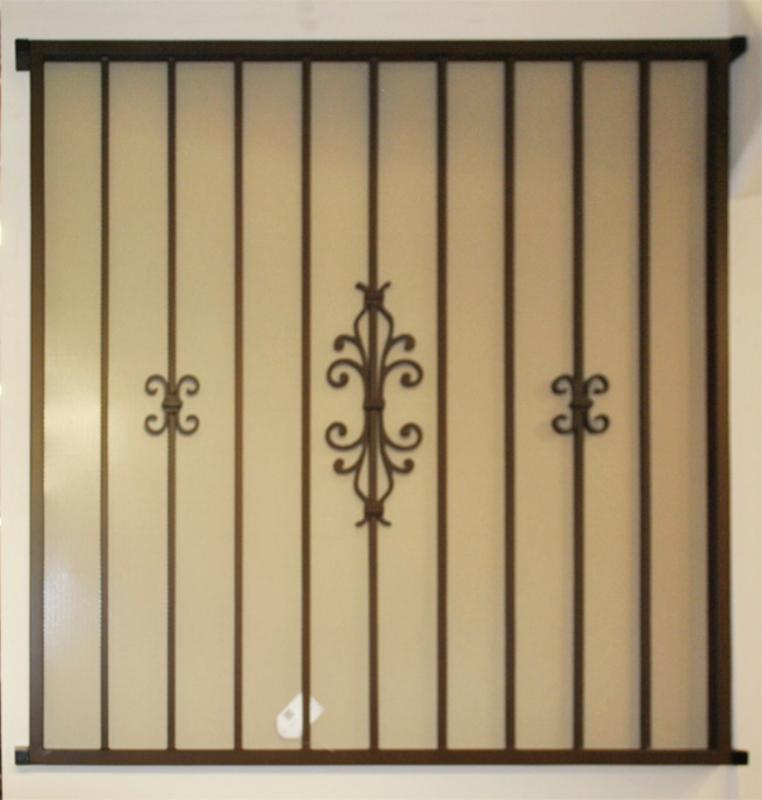 Econo-line Window Guard - Item WG0146 Wrought Iron Design In Las Vegas