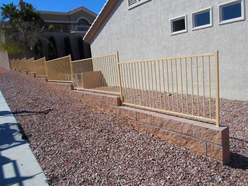 Econo-line Fencing F0107A Wrought Iron Design In Las Vegas