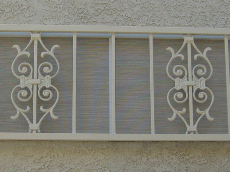 Econo-Line Window Guard WG0030 Wrought Iron Design In Las Vegas