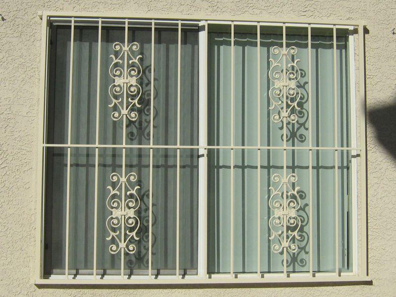 Econo-Line Window Guard WG0031 Wrought Iron Design In Las Vegas