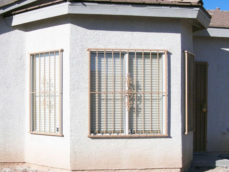 Econo-Line Window Guard WG0044 Wrought Iron Design In Las Vegas
