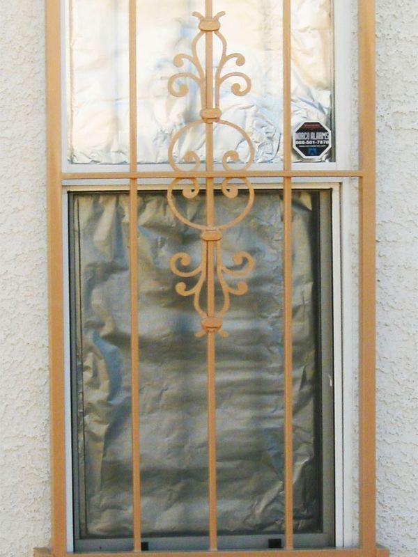 Econo-Line Window Guard WG0046 Wrought Iron Design In Las Vegas