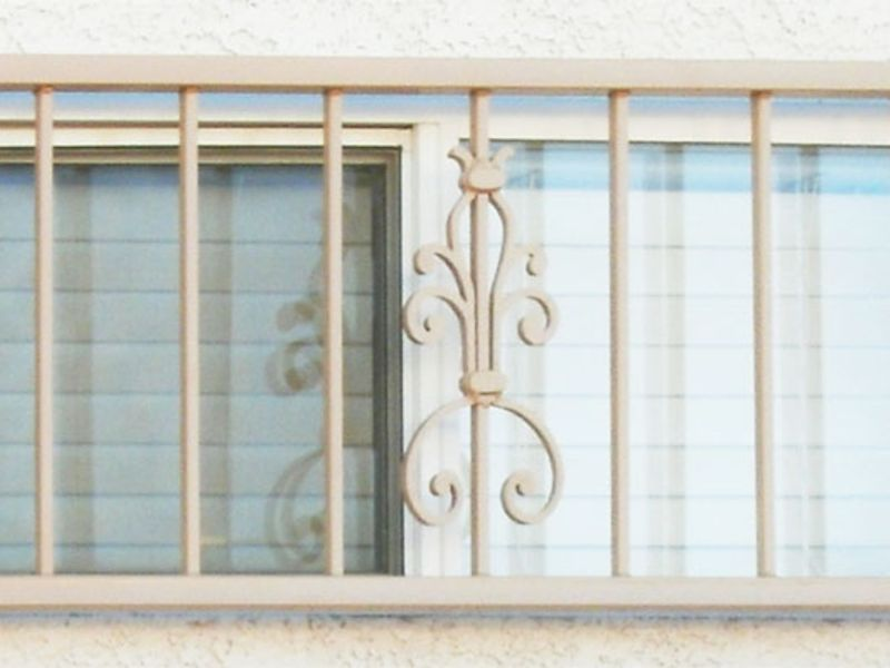 Econo-Line Window Guard WG0047 Wrought Iron Design In Las Vegas