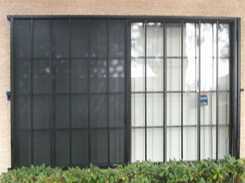 Econo-Line Window Guard WG0048 Wrought Iron Design In Las Vegas