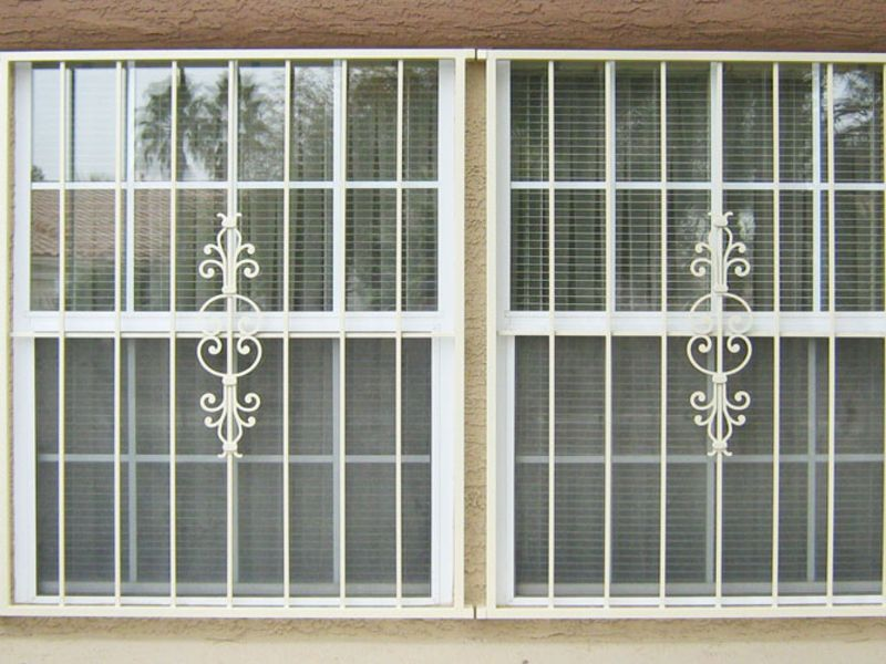 Econo-Line Window Guard WG0061 Wrought Iron Design In Las Vegas