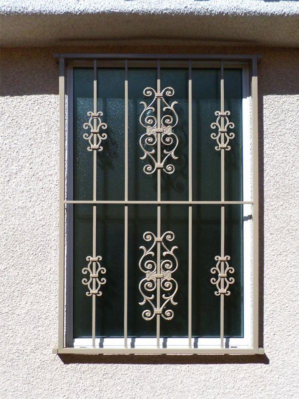 Econo-Line Window Guard WG0093 Wrought Iron Design In Las Vegas