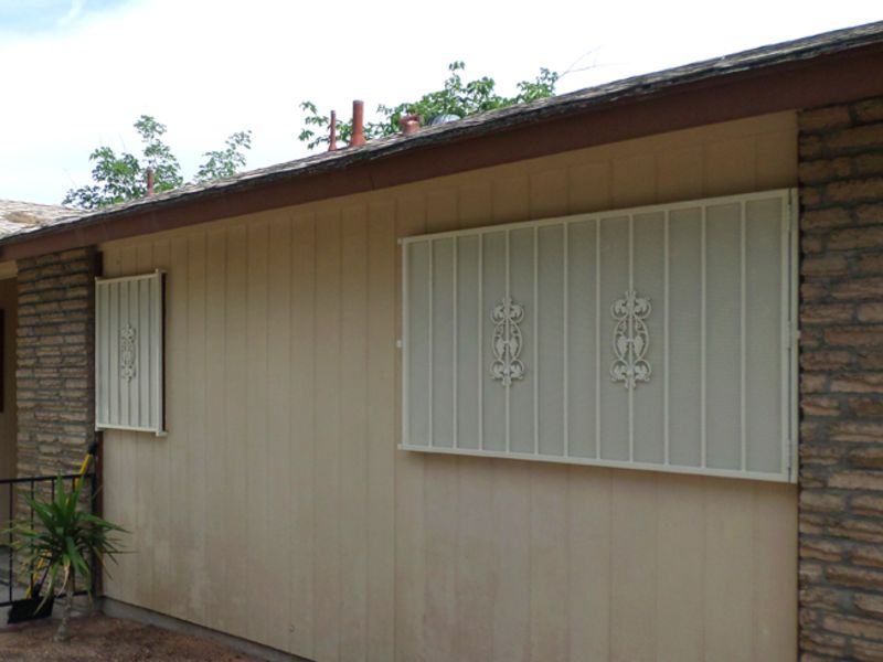 Econo-Line Window Guard WG0104 Wrought Iron Design In Las Vegas