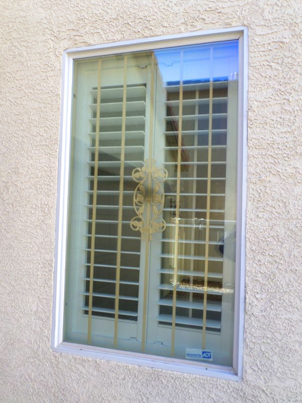 Econo-Line Window Guard WG0107A Wrought Iron Design In Las Vegas