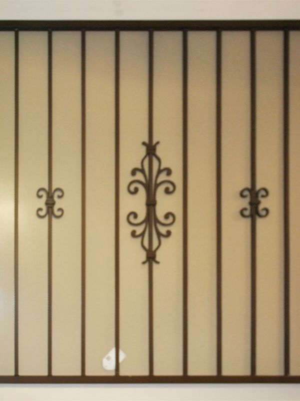 Econo-Line Window Guard WG0146 Wrought Iron Design In Las Vegas
