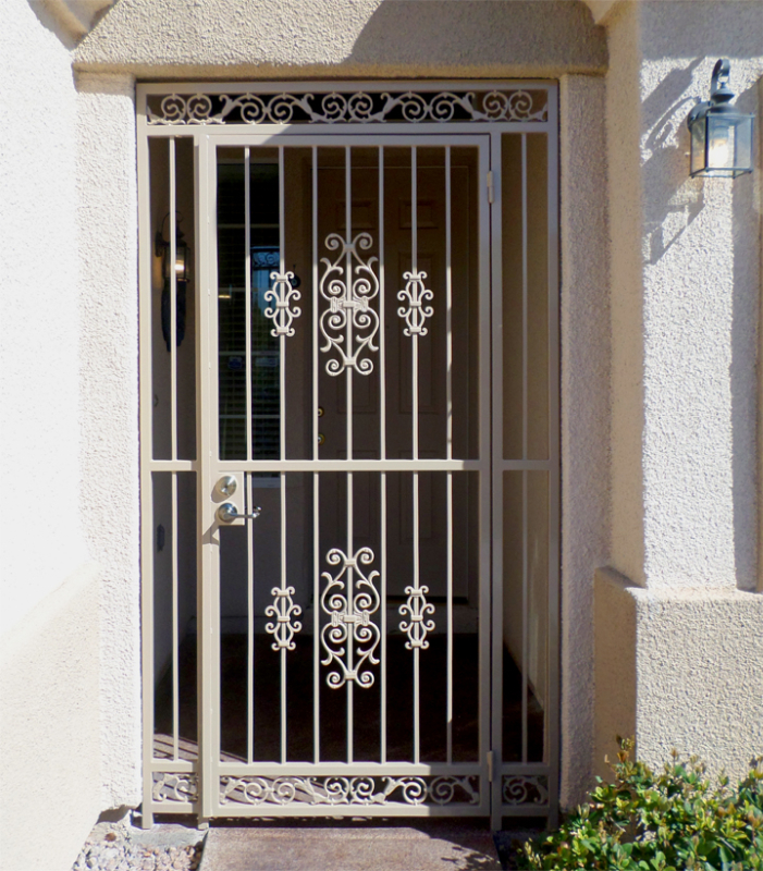 EconoLine Entryway Door - Item EW0080 Wrought Iron Design In Las Vegas