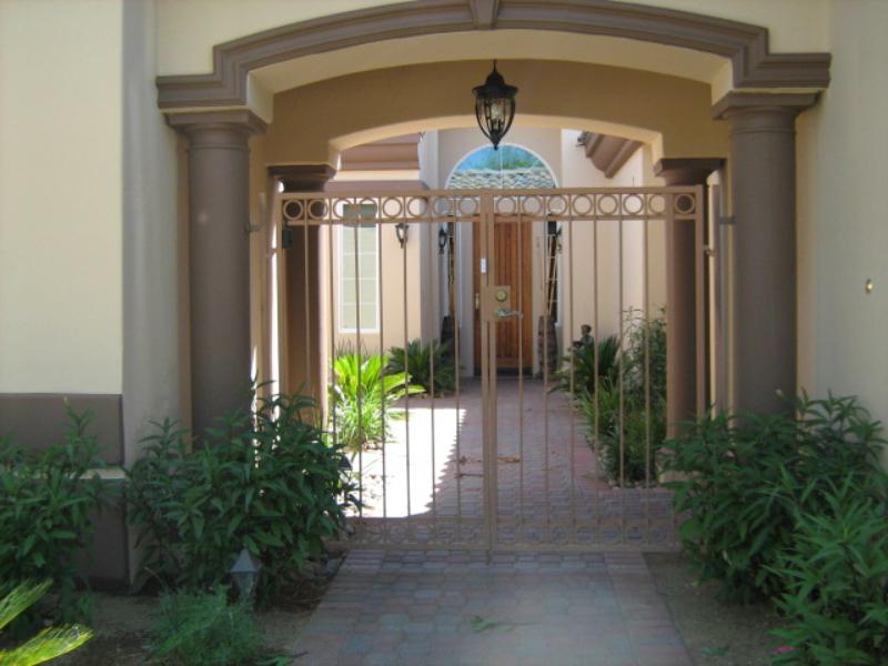 EconoLine Entryway Door - Item EW0097 Wrought Iron Design In Las Vegas