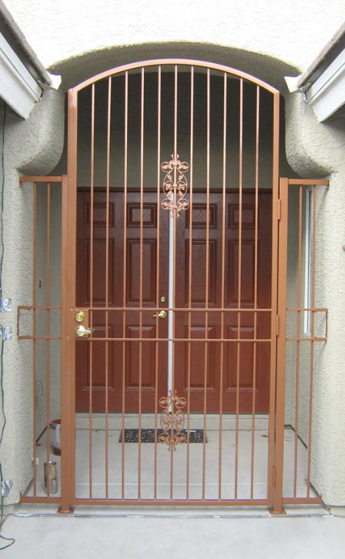 EconoLine Entryway Door - Item EW0108 Wrought Iron Design In Las Vegas
