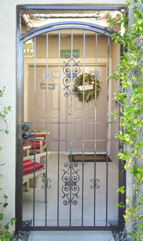 EconoLine Entryway Door - Item EW0243 Wrought Iron Design In Las Vegas