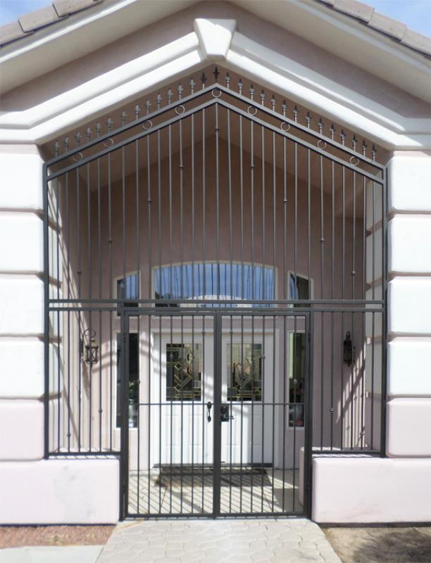 EconoLine Entryway Door - Item EW0378 Wrought Iron Design In Las Vegas