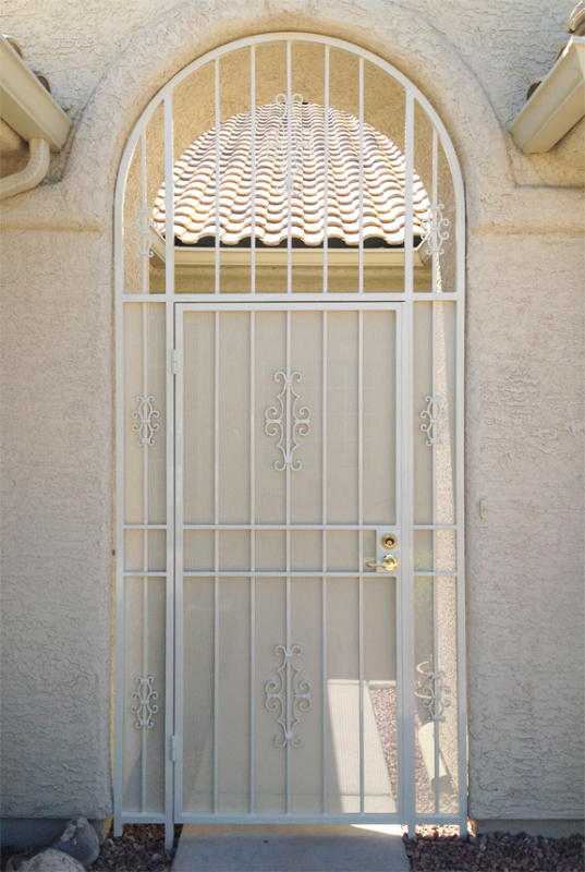 EconoLine Entryway Door - Item EW0405 Wrought Iron Design In Las Vegas