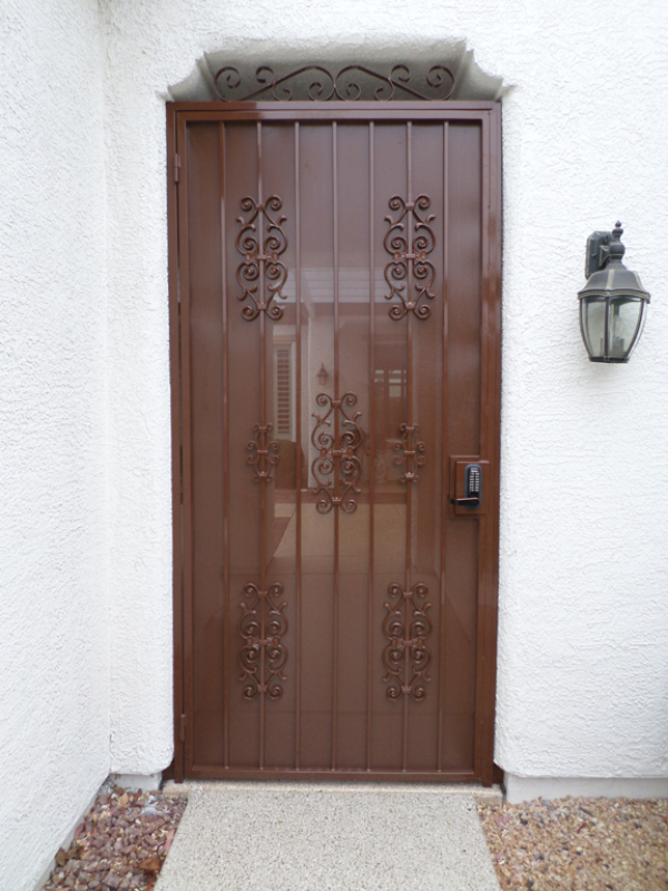 EconoLine Entryway Door - Item EW0439 Wrought Iron Design In Las Vegas
