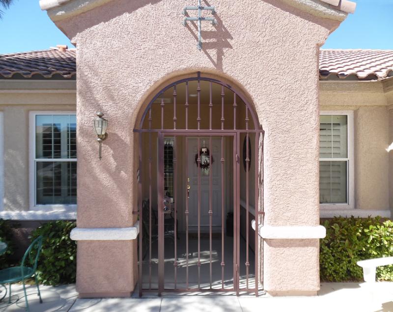 EconoLine Entryway Door - Item EW0445 Wrought Iron Design In Las Vegas