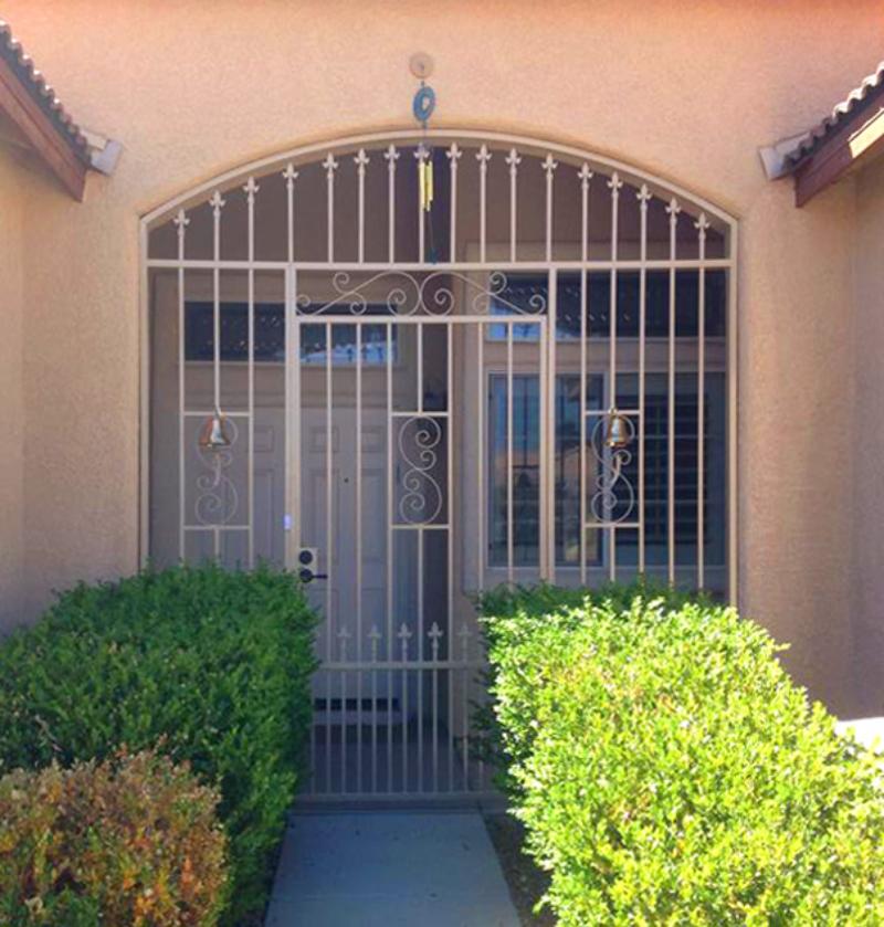 EconoLine Serene Entryway Door - Item EW0031A Wrought Iron Design In Las Vegas