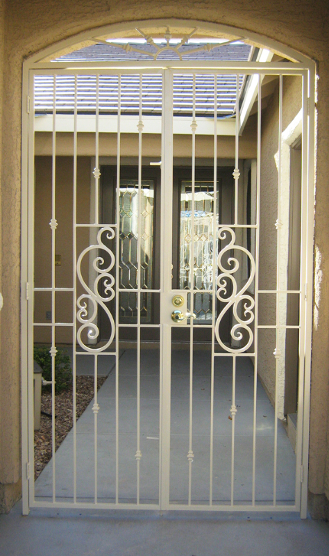 EconoLine Serene Entryway Door - Item EW0109 Wrought Iron Design In Las Vegas