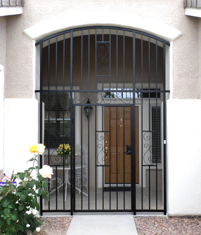 EconoLine Serene Entryway Door - Item EW0359 Wrought Iron Design In Las Vegas