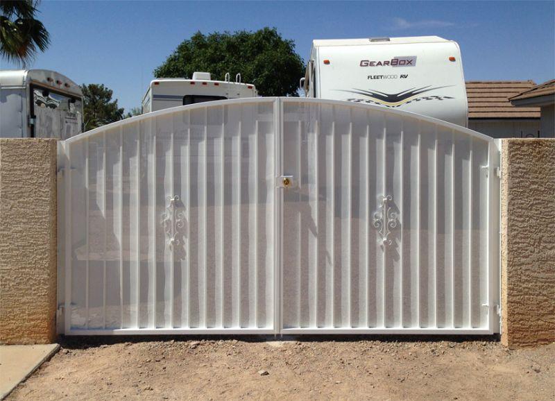 Econo-Line Double Gate - Item DG0009 Wrought Iron Design In Las Vegas