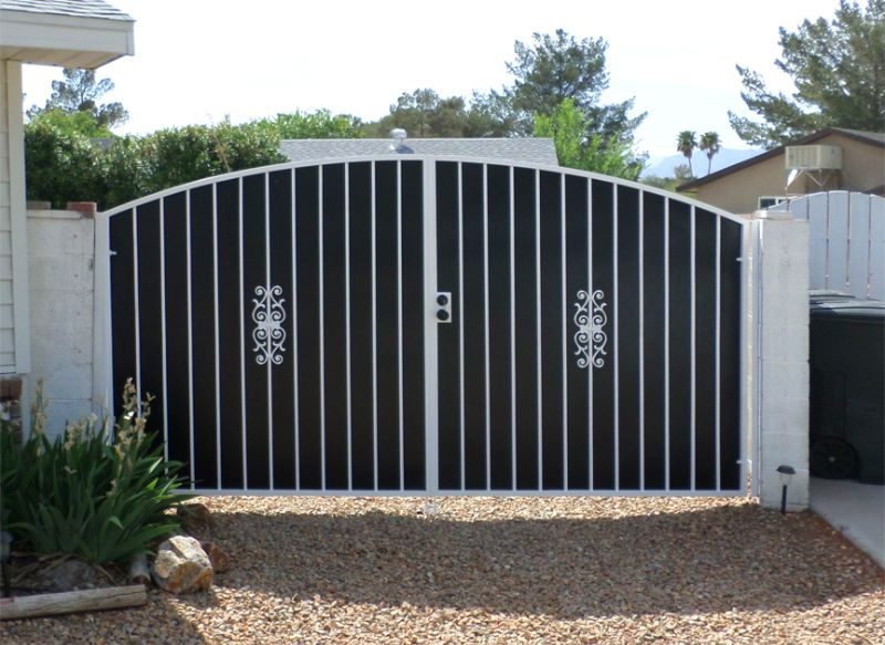 Econo-Line Double Gate - Item DG0009A Wrought Iron Design In Las Vegas