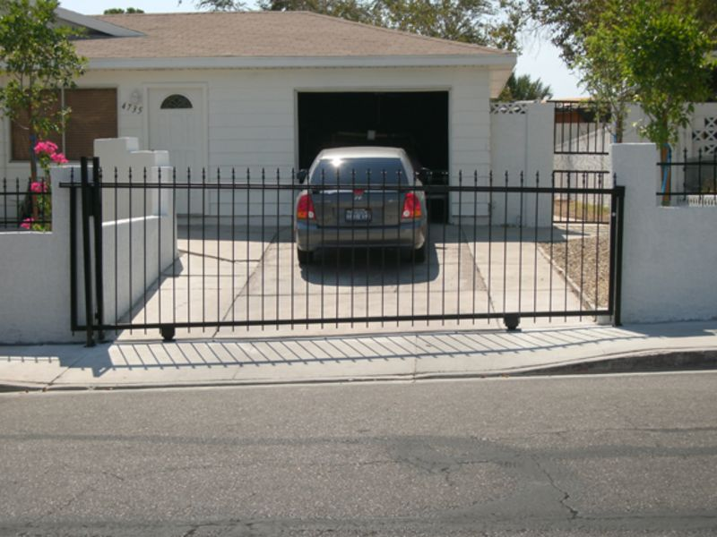 Econo-Line Double Gate - Item DG0060 Wrought Iron Design In Las Vegas