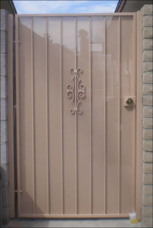 Econo-line Single Gate - Item SG0061 Wrought Iron Design In Las Vegas