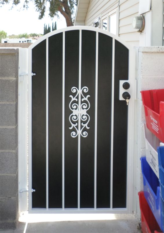 Econo-line Single Gate - Item SG0093A Wrought Iron Design In Las Vegas