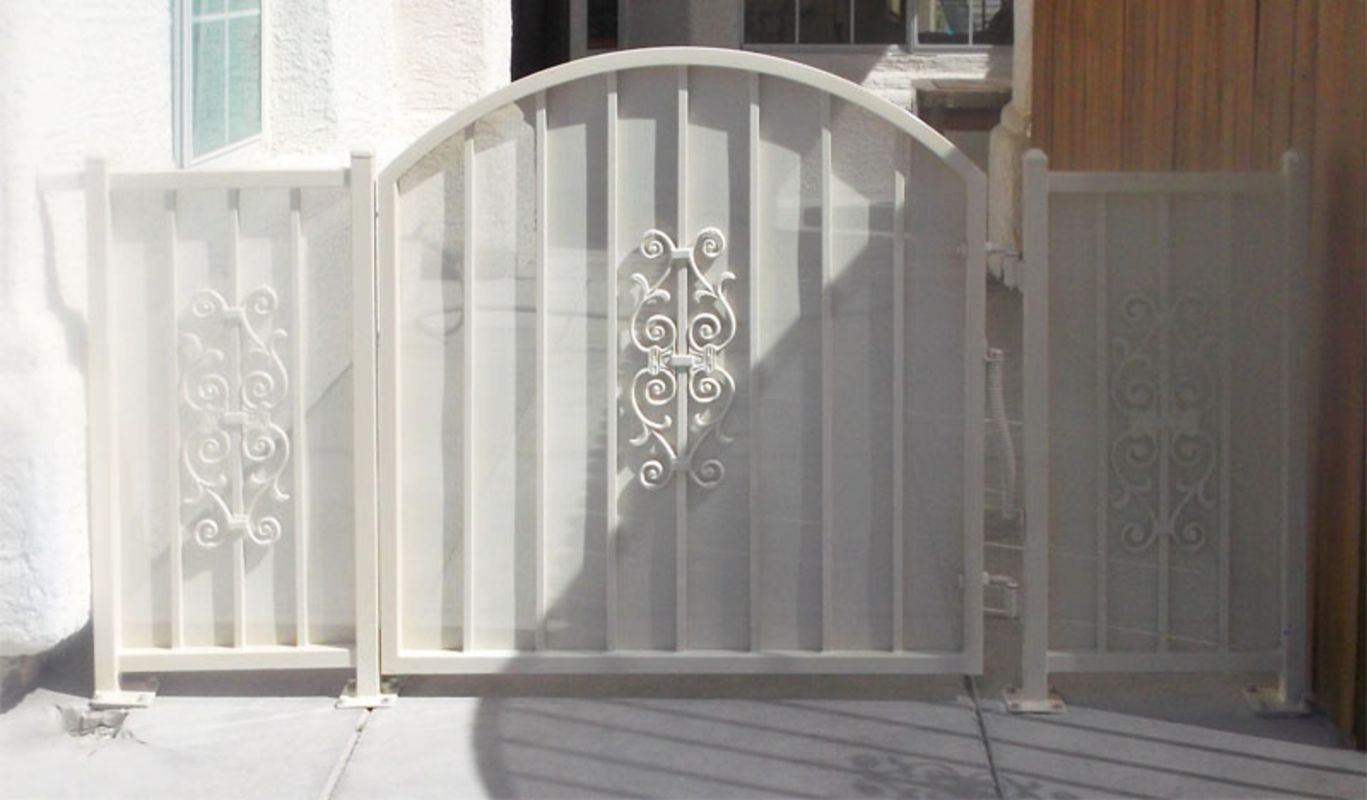 Econo-line Single Gate - Item SG0157 Wrought Iron Design In Las Vegas