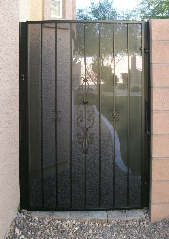Econo-line Single Gate - Item SG0172 Wrought Iron Design In Las Vegas