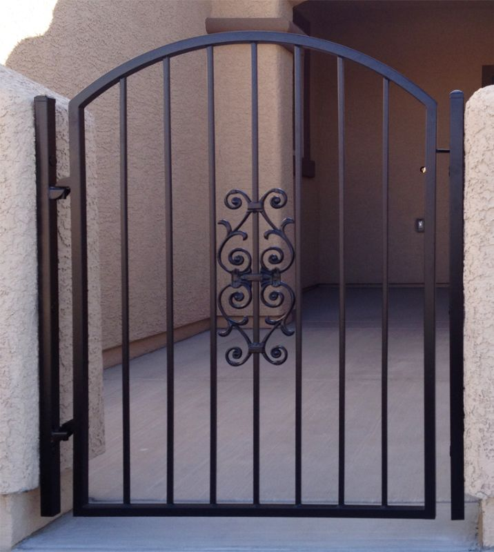 Econo-line Single Gate - Item SG0288 Wrought Iron Design In Las Vegas