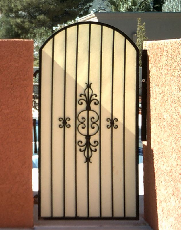 Econo-line Single Gate - Item SG0338 Wrought Iron Design In Las Vegas