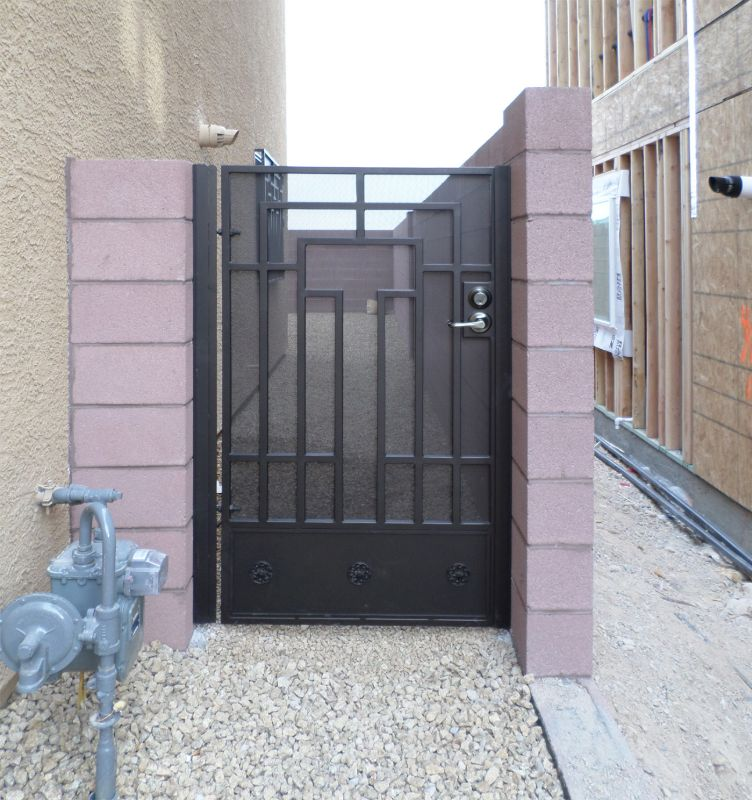 Modern Single Gate - Item Elliot SG0405 Wrought Iron Design In Las Vegas