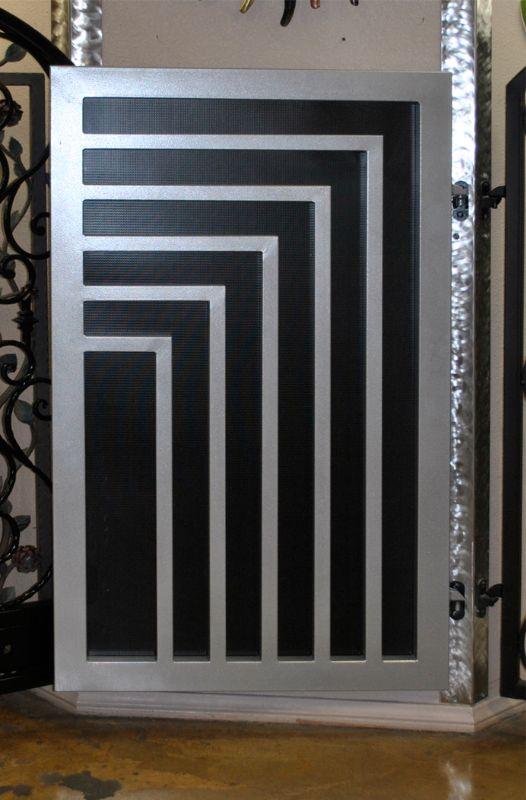 Modern Single Gate - Item EscherSG0290A Wrought Iron Design In Las Vegas
