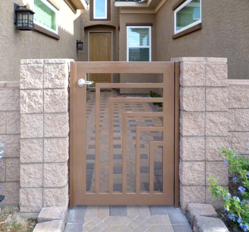 Modern Single Gate - Item EscherSG0290C Wrought Iron Design In Las Vegas