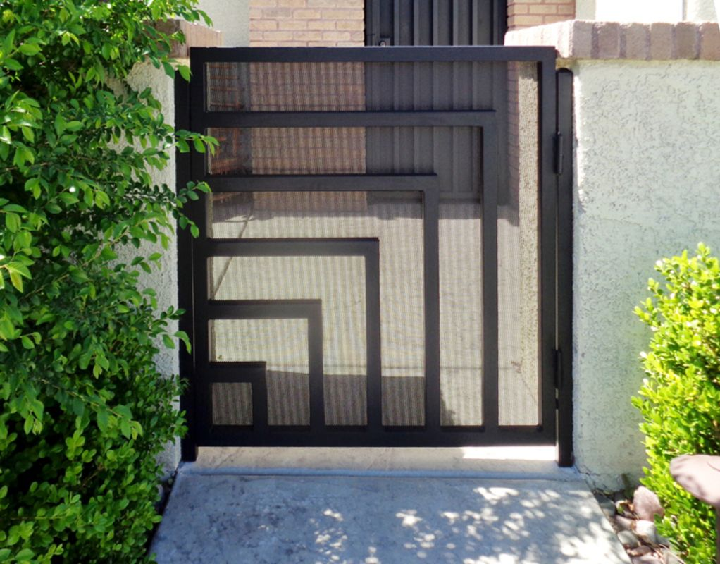 Modern Single Gate - Item Escher SG0527 Wrought Iron Design In Las Vegas