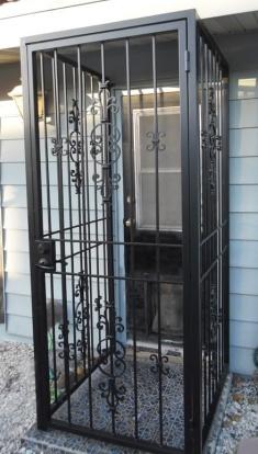 Exterior Pet Enclosure Wrought Iron Design In Las Vegas