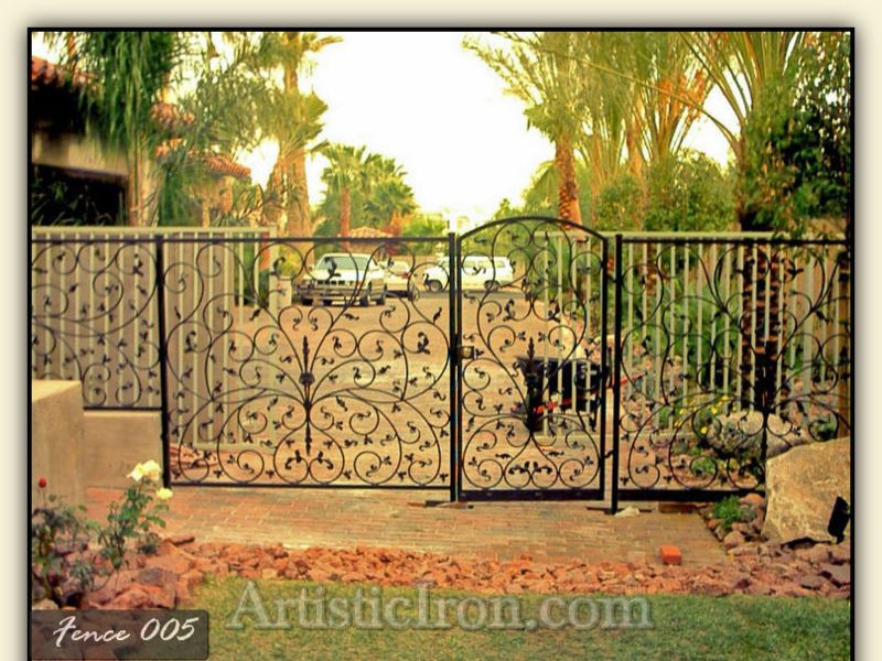 Scrollwork Fencing F0005 Wrought Iron Design In Las Vegas