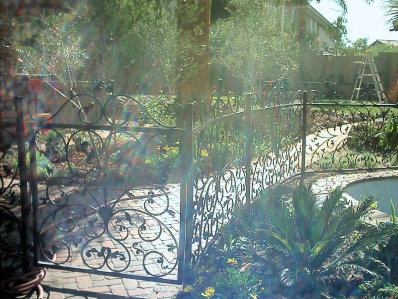 Scrollwork Fencing F0045 Wrought Iron Design In Las Vegas