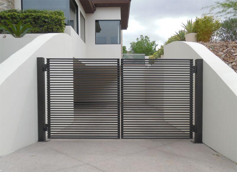 Modern Double Gate - Item FairfaxDG0359 Wrought Iron Design In Las Vegas